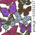蝶 カラフル 多彩のイラスト 41501217