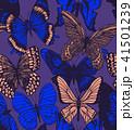 蝶 シームレス スケッチのイラスト 41501239