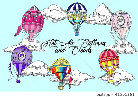 Background with Hot Air Balloons 41501361