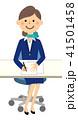 制服の女性 書類 41501458