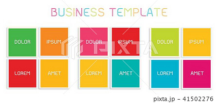 Set of Infographic Elements Templates for Business 41502276