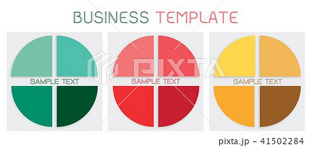 set of pie chart templates for business conceptsのイラスト素材