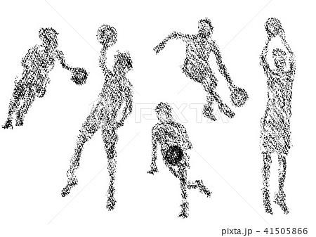 クレヨンで描かれたバスケットボール選手 41505866