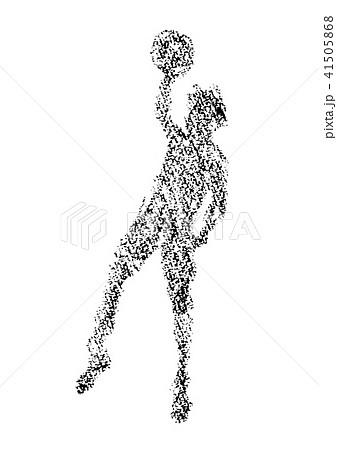 クレヨンで描かれたバスケットボール選手 41505868