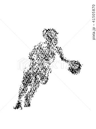 クレヨンで描かれたバスケットボール選手 41505870