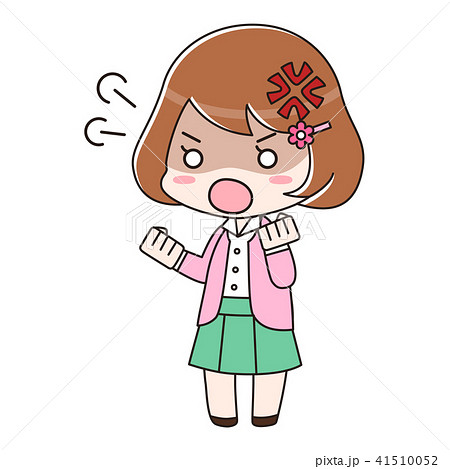 オフィスカジュアル 女性 怒り 41510052