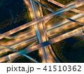 インターチェンジの空撮夜景 41510362