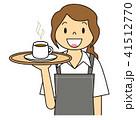 女性 エプロン ドリンク ウエイトレス バリエーション コーヒー ココア カフェラテ 41512770