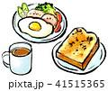 筆描き 食品 モーニングセット 41515365