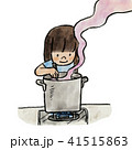 鍋 料理 かき混ぜるのイラスト 41515863