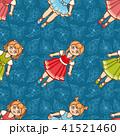 バレリーナ お人形さん フローラルのイラスト 41521460