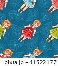 バレリーナ お人形さん フローラルのイラスト 41522177