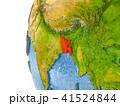バングラディシュ 地球 マップのイラスト 41524844
