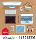 PC モニター ノートパソコンのイラスト 41528556