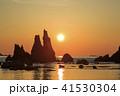 和歌山県・橋杭岩からの日の出 41530304