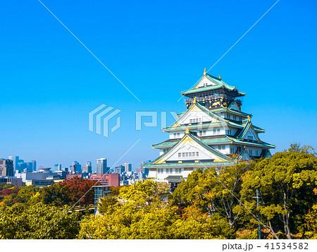 秋の大阪城 41534582