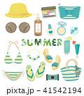 夏のファッションイラスト(3) 41542194