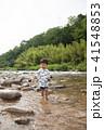 男の子 川 少年の写真 41548853
