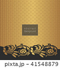 Abstract golden pattern with vintage floral 41548879