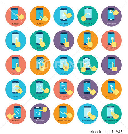 Gesture flat smart phones vector icons. Hands holding smartphone 41549874