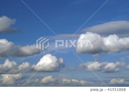 background sky with cumulus cloudsの写真素材 41551008 pixta