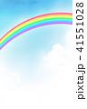 空 虹 背景素材のイラスト 41551028
