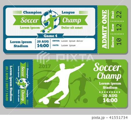 football soccer vector ticket templateのイラスト素材 41551734 pixta