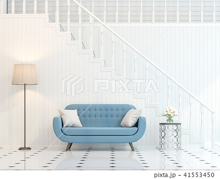 Modern classic stair hall 3d render 41553450