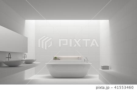 Modern white bathroom interior 3d render 41553460