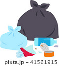 ゴミ袋と散らかったゴミ 41561915