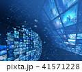 ビッグデータ 映像 テクノロジーのイラスト 41571228