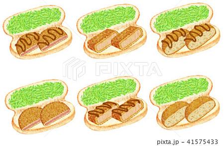 お惣菜コッペパン色々 41575433
