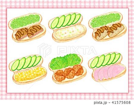 お惣菜コッペパン色々 41575608