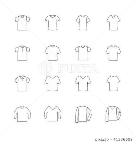 set of blank t shirt template vectorのイラスト素材 41576008 pixta