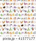 Zoo alphabet with cartoon animals seamless pattern background funny letters wildlife learn 41577177