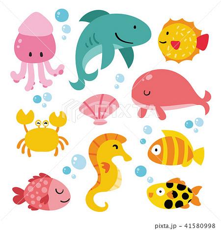ocean animals collection design 41580998