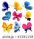 蝴蝶 蝶 虫のイラスト 41581158