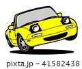 自動車 車 白バックのイラスト 41582438