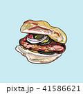 ハンバーガー バーガー サンドイッチのイラスト 41586621