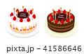 誕生日 ケーキ ショートケーキ チョコレートケーキ 41586646