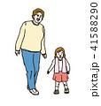 孫 祖母 散歩のイラスト 41588290