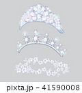 Set of crowns and wreaths on the brides head isolated on gray background. Jewelry wedding diamond 41590008