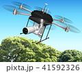ドローン 空撮 飛行のイラスト 41592326
