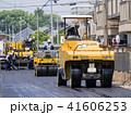道路工事 ロードローラー 41606253