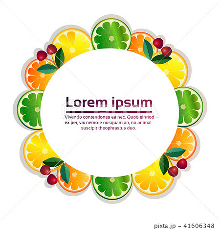tropical fruits colorful circle organic over white background healthy lifestyle or diet concept copy 41606348