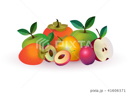 melon apple fruit on white background, healthy lifestyle or diet concept, logo for fresh fruits 41606371