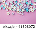 Colorful candies isolated on pink background. 41608072