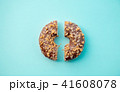 Sweet cut donut on pink background isolated. 41608078
