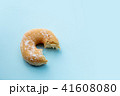Sweet donut on pink background isolated. 41608080