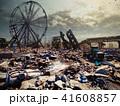 街 都市 倒壊のイラスト 41608857